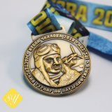 Factory Custom Metal Race Running Dragon Boat Medal with Lanyard clouded