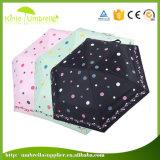 Mini ombrello Pocket di volta di vendita caldo promozionale 5 per il commercio all'ingrosso