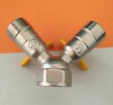 Gas-Schlauch-Anschluss mit Y-Typen Gichtventil