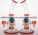 7inches mustert Ahape bunter Glasrecycler-rauchende Wasser-Rohre