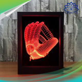 Frame van de kleurrijke 3D LEIDENE Foto van de Nacht verlichtte het Lichte de Schemerlamp van 7 Kleuren met Afstandsbediening voor de Giften van Kerstmis van de Slaapkamer