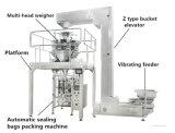 As porcas de chips de sal grânulo Beef Jerky de grãos de milho-pipoca batatas fritas Datas Feijão Snack Vffs forma encher e selar máquina de embalagem Vertical Alimentar Dxd-620C