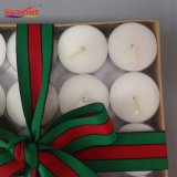 Candele di Tealight del regalo di natale con i cervi belli
