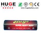 батарея PVC цинка углерода размера 1.5V AA (R6 UM-3) и куртки фольги
