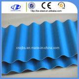 Hoja de acero acanalada revestida prepintada del material para techos del color de las placas de azotea del metal