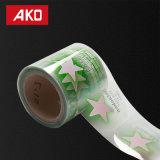 Étiquettes en plastique de bouteilles d'étiquette auto-adhésive de collants