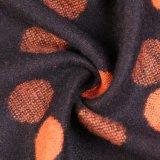 Caxemira reversível acrílica das mulheres como o lenço tecido densamente feito malha morno do xaile do inverno da impressão de PONTO (SP267)