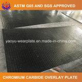 Плита сварки карбида хромия для материальный транспортировать