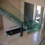 Kit de cristal interior de la escalera del acero inoxidable
