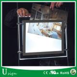 Blocco per grafici acrilico su ordine della foto della casella chiara del cristallo LED della fabbrica (CASELLA CHIARA DI CRISTALLO del LED)