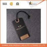 Étiquettes respectueuses de l'environnement faites sur commande de coup de noir de logo d'impression d'usine pour le vêtement