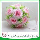잎을%s 가진 낭만주의 장식적인 큰 거는 인공적인 로즈 꽃 공