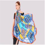 Ha072 100% шелковые шарфы 110см*110см, машина
