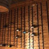 عرض معدن جدار سلك رصيف صخري مع خمر منصب جريدة مسنّنة 12 زجاجة