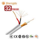 RG6 + 2 cabos coaxiais da potência com cabo Siamese do cabo distribuidor de corrente