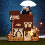 Деревянная дом куклы с воспитательными игрушками для малышей