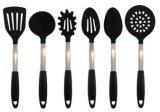 Articolo da cucina del silicone insieme dell'utensile della cucina dell'acciaio inossidabile delle 6 parti