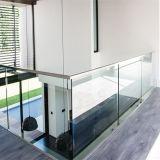 알루미늄 방책 계단 손잡이지주 테라스 유리제 방책 디자인