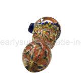 Tubulação de vidro da mão da colher com tubulação borbulhada (ES-HP-363)