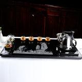 De Buena calidad de piedra de granito negro de la bandeja de té para la venta