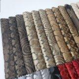 Textiles tejidos de poliéster sofá de terciopelo de corte Tapizados
