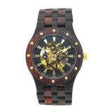 Bewell 2018 klassische hölzerne Bambusuhr, kundenspezifisches Firmenzeichen-mechanische hölzerne Uhr