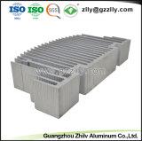 기계를 위한 열 싱크가 건축재료 알루미늄에 의하여 윤곽을 그린다