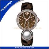 Modèle spécial de montre-bracelet de Genève du genre de quartz des hommes mémorables de femmes