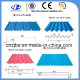 カラーによって塗られる電流を通された波形鉄板の屋根ふきシート