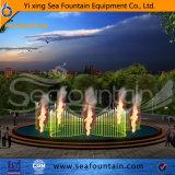 Яркий факел музыки на полупогружном судне контроллера насоса Танцующий фонтан