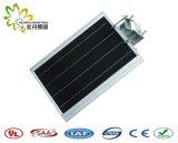 Prix usine ! ! 8W IP65 a intégré tous dans un réverbère solaire de DEL ! ! Jardin/mur/cour/rue/voie/route/lumière extérieurs de pelouse