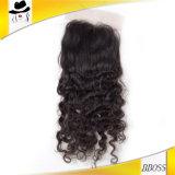 黒人男性のための深い波2.5*4ブラジルのチンタオの毛のかつら
