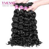 Цвета волос девственницы Yvonne скручиваемость перуанского Weft естественного итальянская