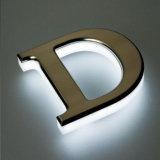 Hot Sale Custom Outdoor 3D de l'acrylique rétroéclairé par LED de signer des lettres de canal des enseignes lumineuses