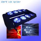 8PCS*10W LED 단계 점화를 위한 이동하는 광속 바