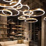 Lamp van de Verlichting van de antieke Moderne LEIDENE van het Messing Tegenhanger van de Kroonluchter de Hangende in verscheidene Verschillende Grootte voor het Project van het Hotel
