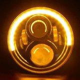 7 runder 60W LED Scheinwerfer des Zoll-für JeepWrangler Jk Hummer H1 PUNKT anerkanntes Jeep-Licht-hohen niedrigen Träger