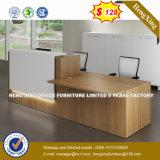 Черная сталь ногой стол письменный стол деревянной мебели (HX-8N2107)