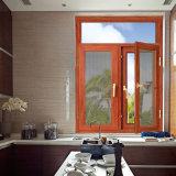 صنع وفقا لطلب الزّبون خشبيّة لون ضعف زجاجيّة ألومنيوم شباك نافذة