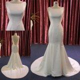 저녁 신부 드레스 결혼 예복을 구슬로 장식하는 고품질 인어 공단