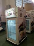 3개의 층 유리제 문 탁상 Gelato 전시 냉장고를 가진 소형 아이스크림 냉장고