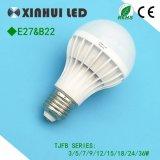 3W//5 W/7W/9W/12W Ampoule de LED en plastique