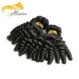 Pelo ondulado chino sin procesar que teje el pelo humano natural de Remy