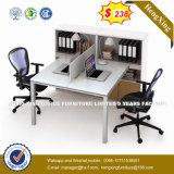 Prix d'usine de meubles de cloison de MDF de la station de travail de bureau (HX-8N0245)