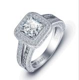 Per sempre monili di amore per le coppie con i monili sterlina d'argento della fascia di cerimonia nuziale del diamante 925 brillanti (533683581982)