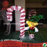 220V LED Elf Bâton de marche décoration lumière décorative pour Noël de plein air