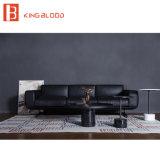 Modernes schwarzes reales Nappa ledernes materielles Schnittsofa Italien-stellte für Wohnzimmer ein