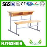 Double bureau en bois détachable d'élève avec la présidence (SF-44D)