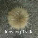 Billes fausses détachables de fourrure de raton laveur avec l'attache instantanée aux chapeaux