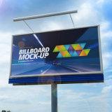 2017 Auto-estrada da cidade de dupla face exterior de aço barato para Outdoor de anúncio